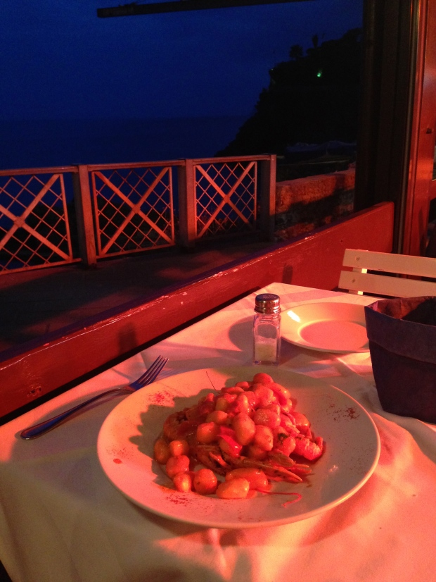 Dinner for one- ocean-side!
